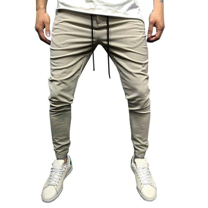 fd0814f9e6df9 Rawdah Pantalones Hombre Hombre Casual Sportwear Baggy Jogger Pants Slacks  hasta El Tobillo Pantalones De CháNdal Pantalones De Hombre  Amazon.es   Ropa y ...