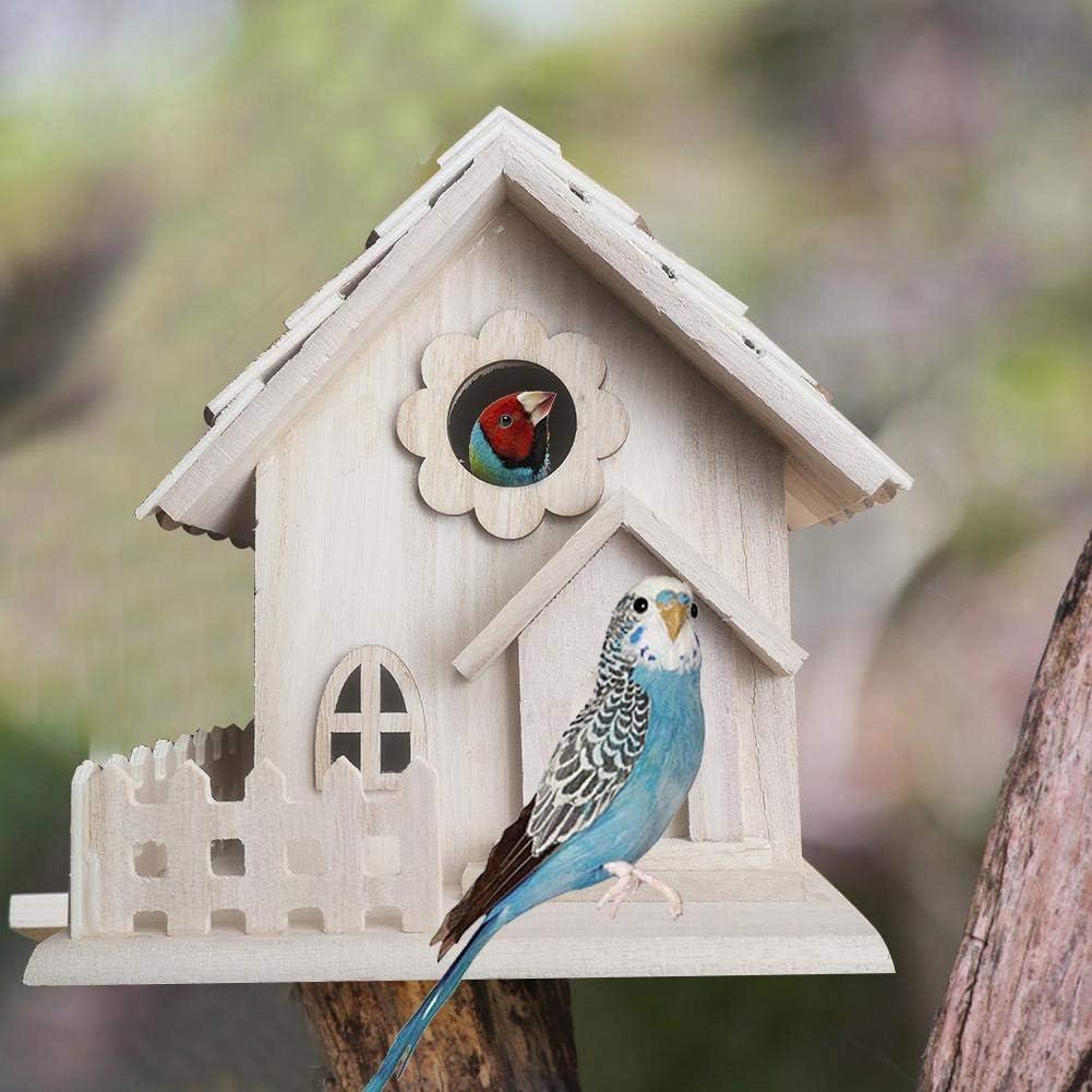 luminiu Nido para Pájaros,Casa De Madera para Pájaro Casitas para Pájaros Caja Nido para pequeños pájaros como blaum Hierro petirrojo Gorriones Decoración de Jardín Terraza O Balcón: Amazon.es: Hogar