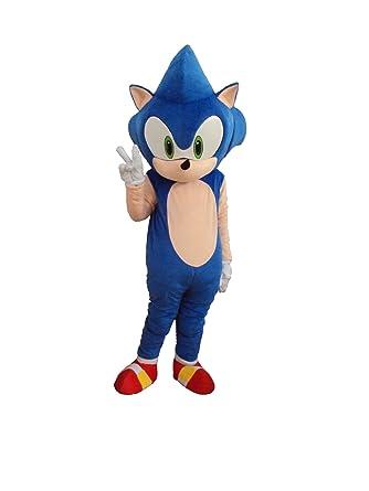 Professional Hedgehog Sonic Mascot Costume Adult Halloween Costume Fancy Dress Outfit  sc 1 st  Amazon.com & Amazon.com: Professional Hedgehog Sonic Mascot Costume Adult ...
