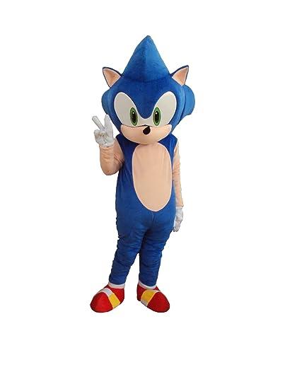 Amazon.com Professional Hedgehog Sonic Mascot Costume Adult Halloween Costume Fancy Dress Outfit Clothing  sc 1 st  Amazon.com & Amazon.com: Professional Hedgehog Sonic Mascot Costume Adult ...