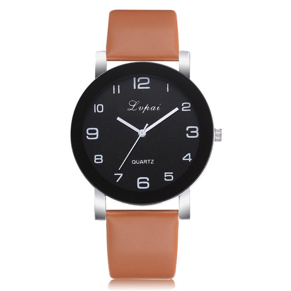 Watch for Women,Women's Casual Quartz Leather Band Watch Analog Wrist Watch,Sports Fan Jewelry Watches,Coffee