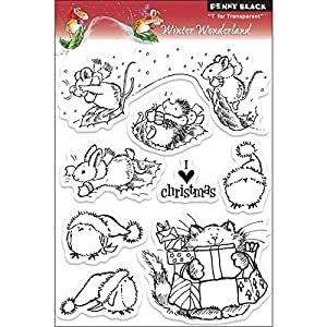 Penny Black 200834 Stamps, 5-Inch by 7.5-Inch, Winter Wonderland, Clear