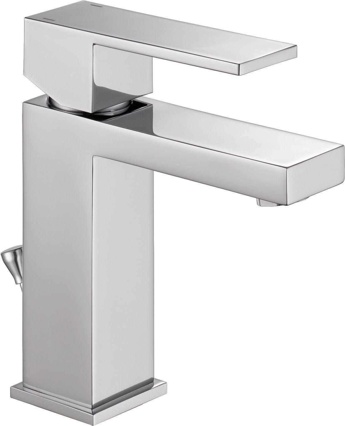 9. Angular Modern Single Handle Lavatory Faucet