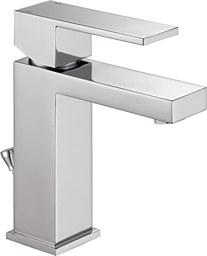 Delta 567LF PP Modern Single Handle Bathroom Faucet With Drain Assembly,  Chrome