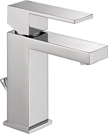 Delta Faucet Modern Single Handle Bathroom Faucet With Drain