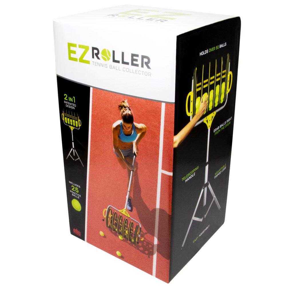 Deluxe Roller Tennis Ball Collector - Includes 25 Bonus Practice Balls! by Crown (Image #6)
