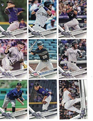 (Colorado Rockies / Complete 2017 Topps Series 1 & 2 Baseball Team Set. FREE 2016 TOPPS ROCKIES TEAM SET WITH PURCHASE!)