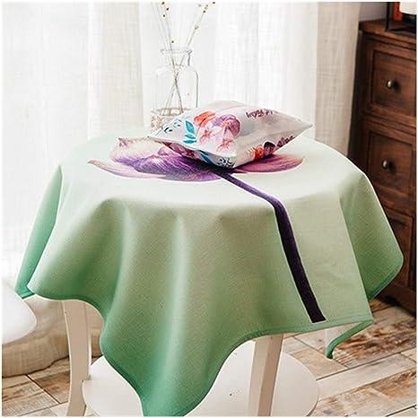 Mantel DYF Redondo-algodón Cuadrado Tejido Pequeño tapete de Mesa Fresco Polvo Vegetal Redondo Mueble de TV nórdico zxy (Color : G, Size : 140 * 140cm): Amazon.es: Deportes y aire libre