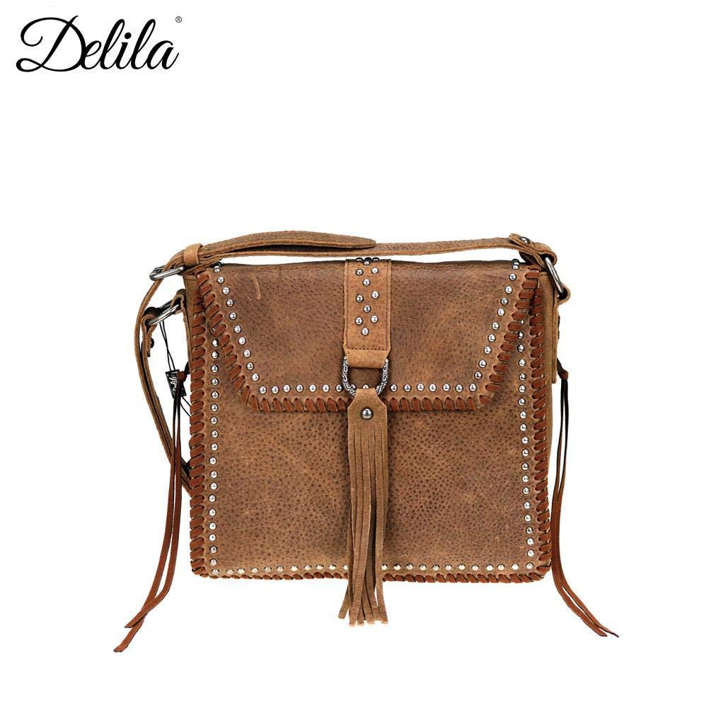 LEA-6045 Delila Leather Collection Messenger Bag