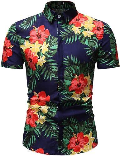 Cocoty-store 2019 Camiseta Hombre, Hombres Mujeres Camisetas Casuales de impresión de Tallas Grandes Verano Camisas Hombre Manga Corta de la Playa Hawaiana, M/L/XL/2XL/3XL: Amazon.es: Ropa y accesorios