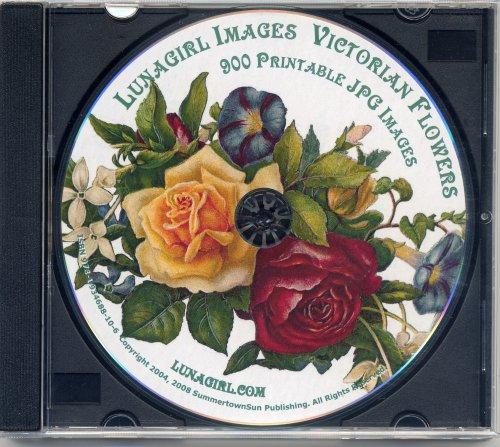 Victorian Flowers - 900 colorful antique cards, scraps, die-cuts, labels, botanical prints & illustrations (Lunagirl Images Fine Art and Illustration Series)