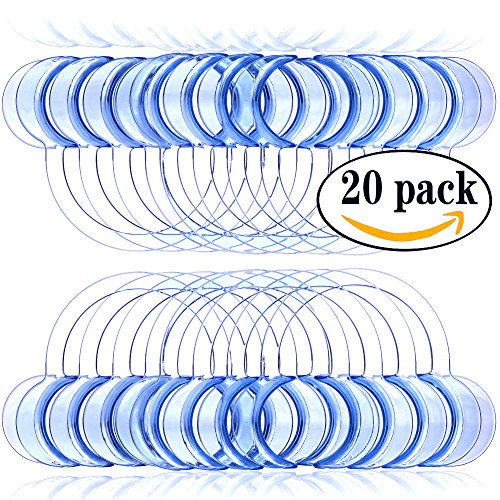 Laocui Mouth Opener Cheek Retractors, Medium – Blue (Pack of 20)