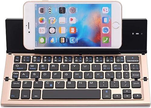 ZIQI Teclado Plegable Bluetooth inalámbrico, Teclado portátil ...
