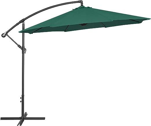 FP-TECH - Sombrilla de jardín de 3 x 3 Lados Plegables, Color Beige Claro o Verde, Verde: Amazon.es: Jardín