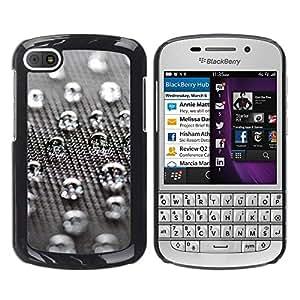 TopCaseStore / la caja del caucho duro de la cubierta de protección de la piel - Water Drops - BlackBerry Q10