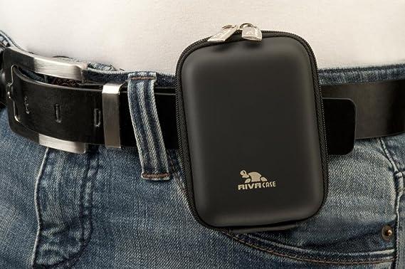 RivaCase 7103 Hardcase f/ür Digitalkamera schwarz PU