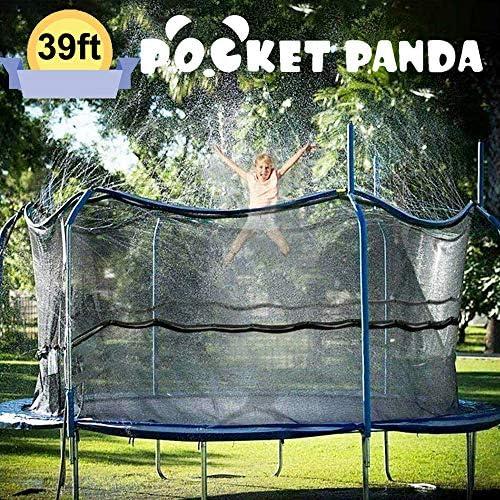 POCKET PANDA Water for Trampoline 39FT for Kids, Sprinkler for Trampoline Net, Summer Outdoor Hose Waterpark Cooling Stuff for Backyard, Fun Cool Activities for Yard Outside, Water Sprinkler