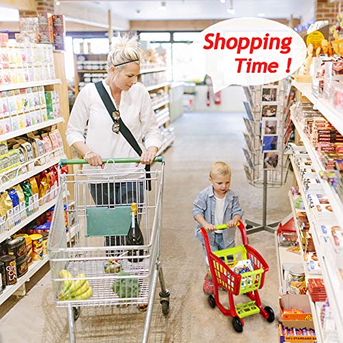 Fajiabao Kids Shopping Cart Toy Play Grocery Cart Trolley Supermarket Pretend Playset with 27 PCS Fruits Vegetables Food for Toddler Child Boys Girls 2 3 4 5 6 Years Old by Fajiabao (Image #6)