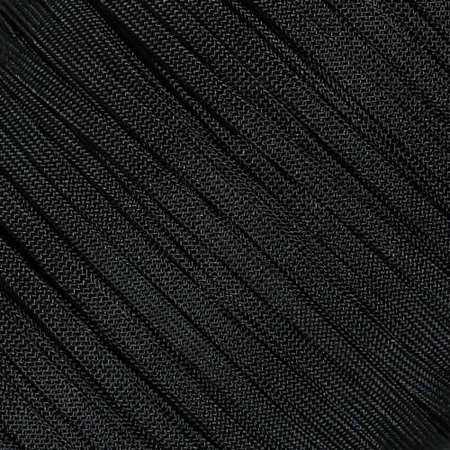 (West Coast Paracord Coreless 650 Nylon Cord - Home Décor, Pet Apparel, Craft Projects (Black, 50 Feet))