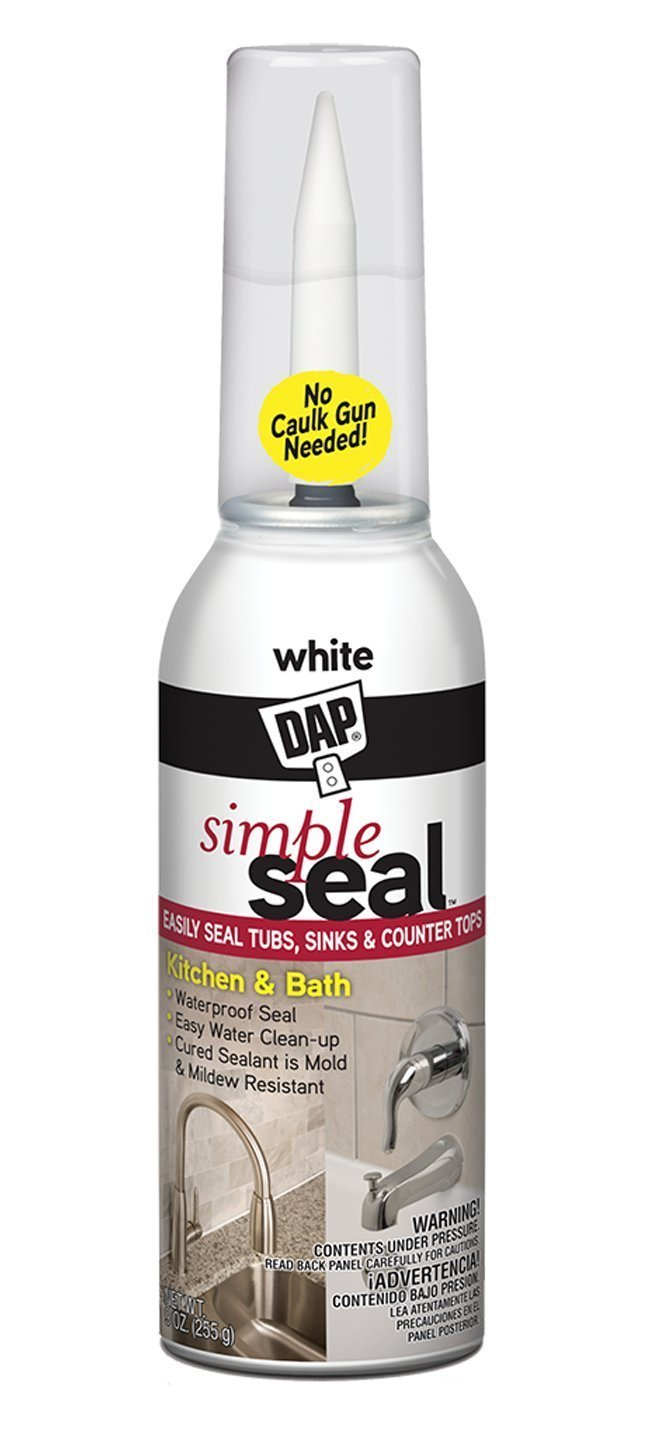 Dap 18772 9 Oz White Simple Seal Kitchen & Bath Sealant by DAP