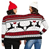 Littleice Christmas Novelty Couples Pullover Blouse,Two Person Ugly Sweater Xmas Top Shirt for Unisex (S)