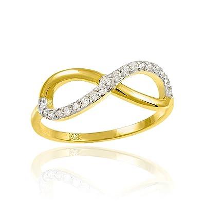 Amazon 14k Yellow Gold Diamond Infinity Ring for Women 8