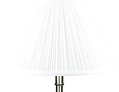 FenchelShades.com 7 Top Diameter x 20 Bottom Diameter 12 Slant Height Lampshade USA Made Pleated White