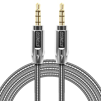 3.5mm Auxiliary Audio Male to Male Cable Zinc Alloy AUX Cord for Apple IPhone,