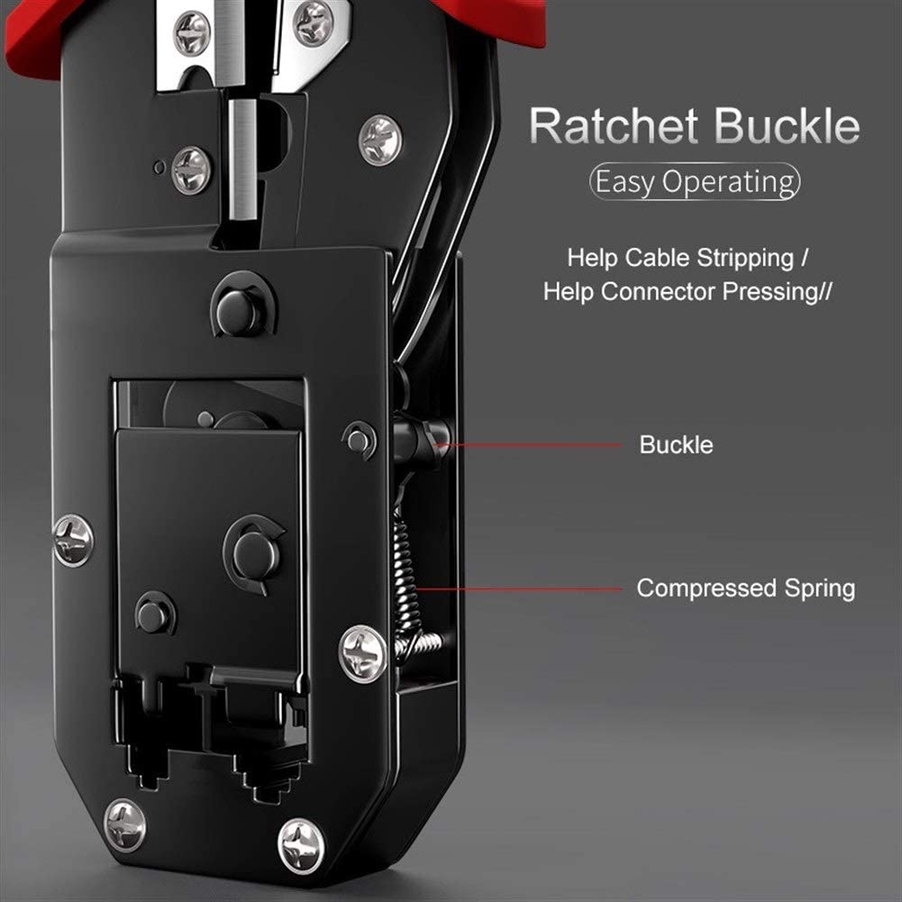 No-Branded Crimping Plier Wire Tracker RJ11/12/45 Cable Crimper Stripping for 6P/8P Ethernet and Telephone Cable Making JFYCUICAN (Color : SZ 568L) Sz 5684