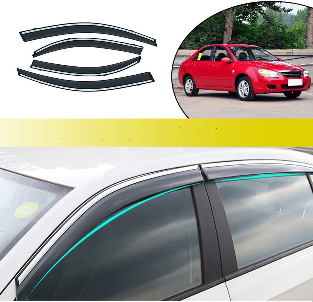 for KIA SPORTAGE R 2011-2017 Outside Mount Front Rear Smoke Sun Deflectors Visor Rain Guard Vent Shade Window 4PCS
