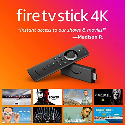 Amazon Devices & Accessories Fire TV Fire TV Stick with Alexa Voice Remote streaming media player