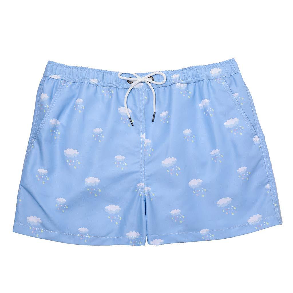 Men Casual Short Vine/_MINM Beach Surfing Pants Quick Dry Breathable Elastic Waist Athletic Gym Shorts Trousers