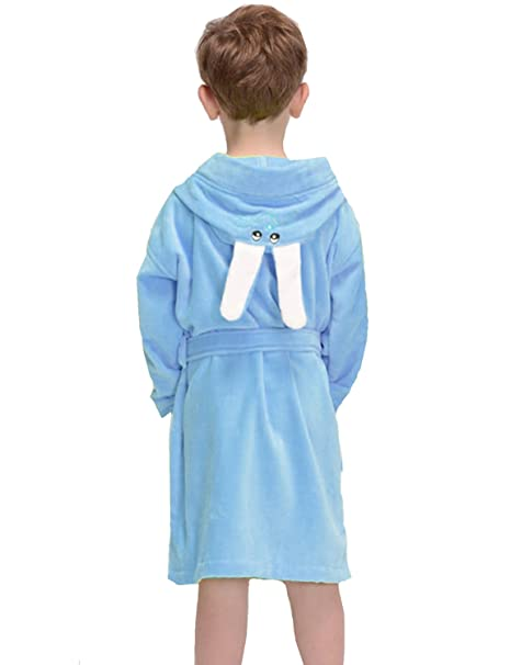 1ebe46126b Boys Girls Terry Towelling Bathrobe Kids Wrap Housecoat