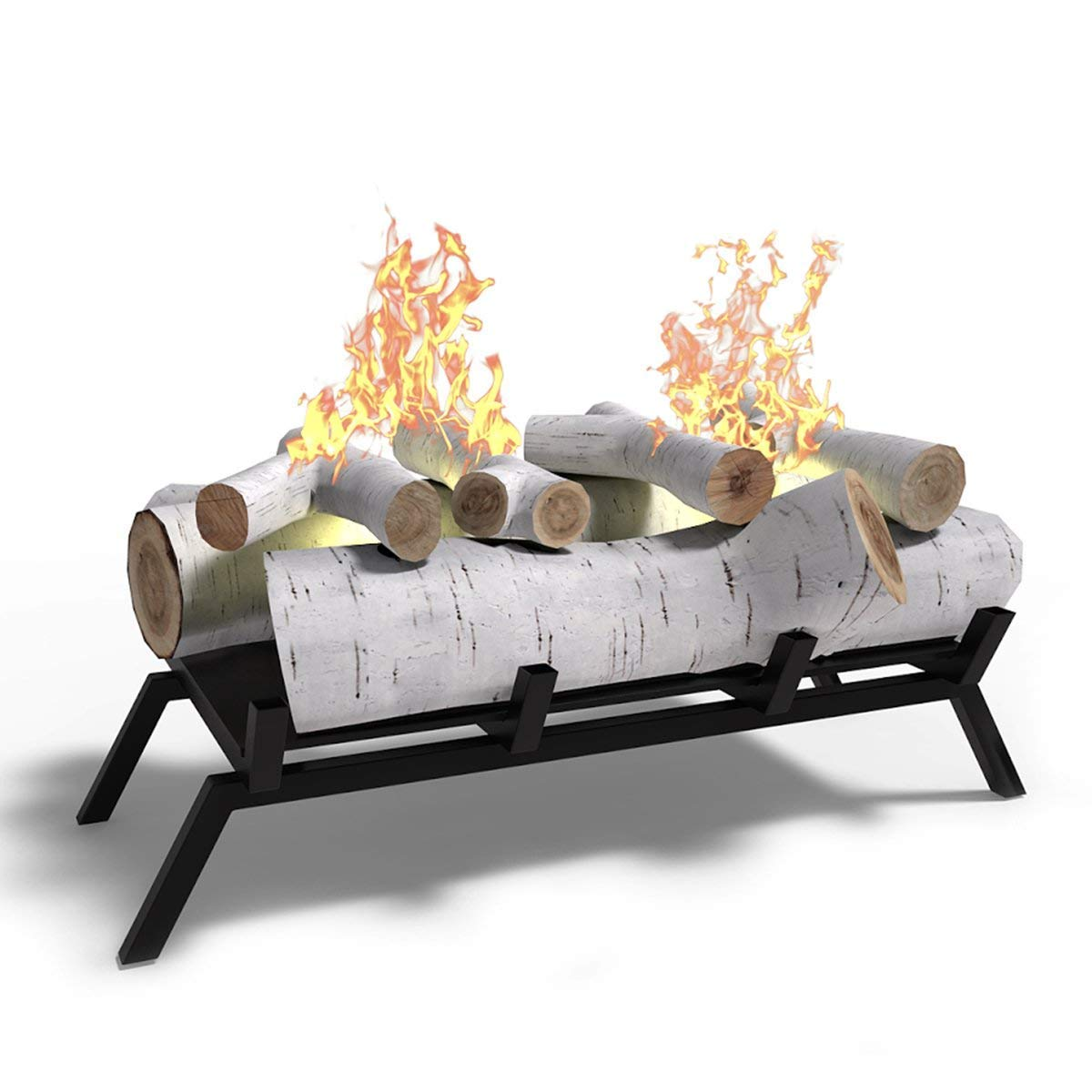 Regal Flame Birch 18'' Ethanol Fireplace Grate Log Set with Burner Insert For Easy Conversion from Gas Logs, Gel, Wood Log, Electric Log, Electric Fireplace Insert or Wood Burning Fireplace Insert by Regal Flame