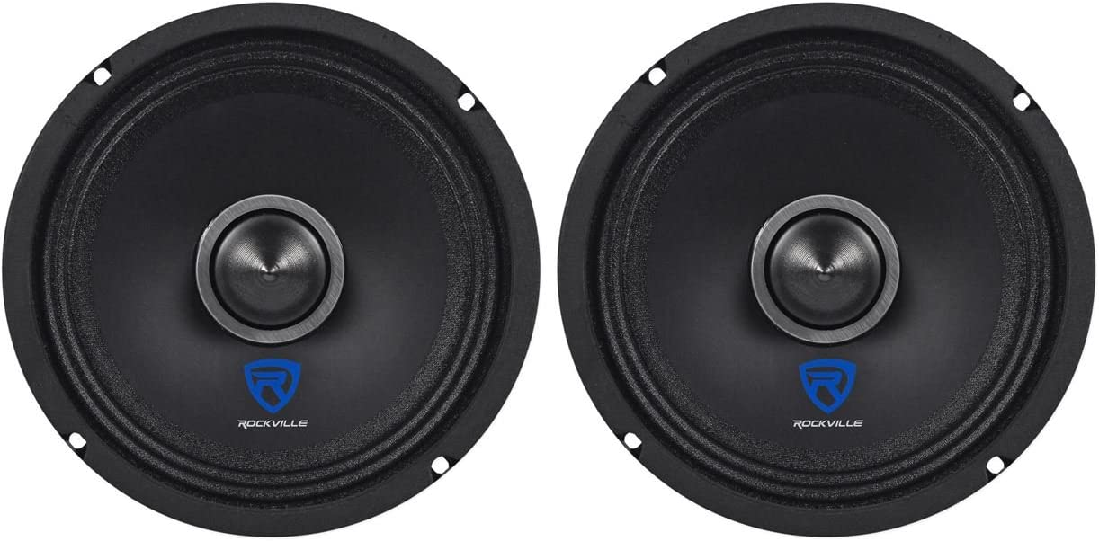 "Rockville RXM64 6.5"" 300w 4 Ohm Mid-Range Drivers Car Speakers"