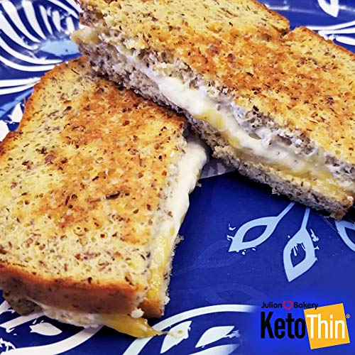 Keto Thin® | Bread | 1 Carb | Gluten-Free | Grain-Free | (0 Net Carbs) | 100% Keto | (3 Pack)