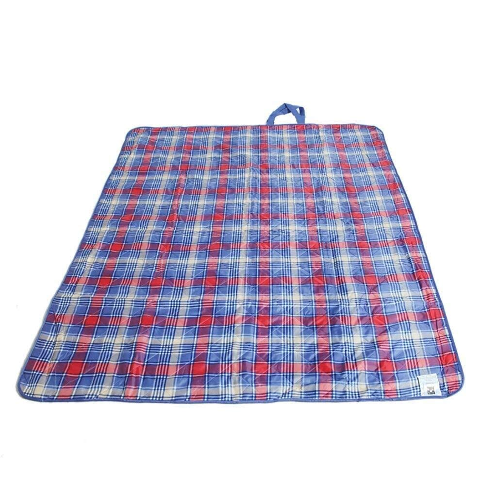 ZKKWLL Picnic Blanket Picnic mat Oxford Cloth Washable Picnic Blanket Waterproof Handle 150 X 180 cm Picnic mat (Color : A) by ZKKWLL