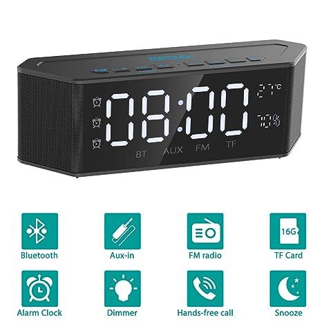 Altavoz Portatil ZOETOUCH Altavoz Bluetooth Potente Inalambrico con Micrófono 30 Horas de Emisión Llamadas Manos Libres