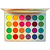 24 Colors Glow in The Dark Paint, Neon Eyeshadow Glow Palette UV Glow Blacklight Matte and Glitter, Highly Pigmented…