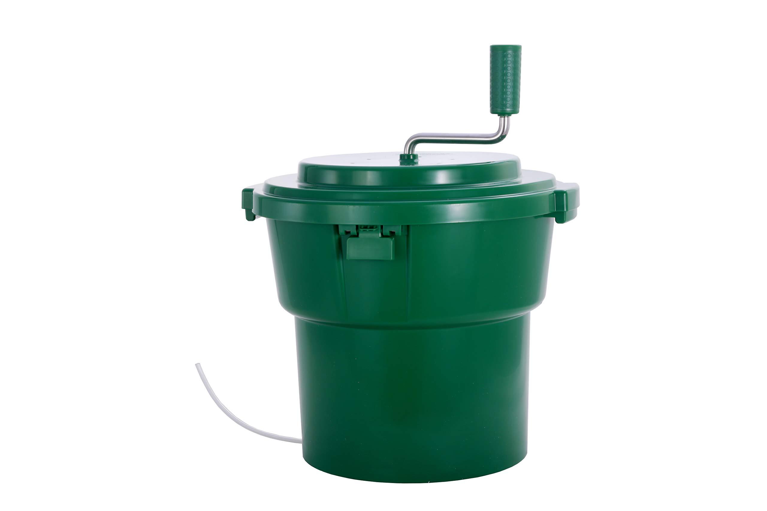 Hakka 20 Liter/5 Gallon Large Commercial Manual Salad Spinner&Dryer by HAKKA FOOD PROCESSING (Image #1)