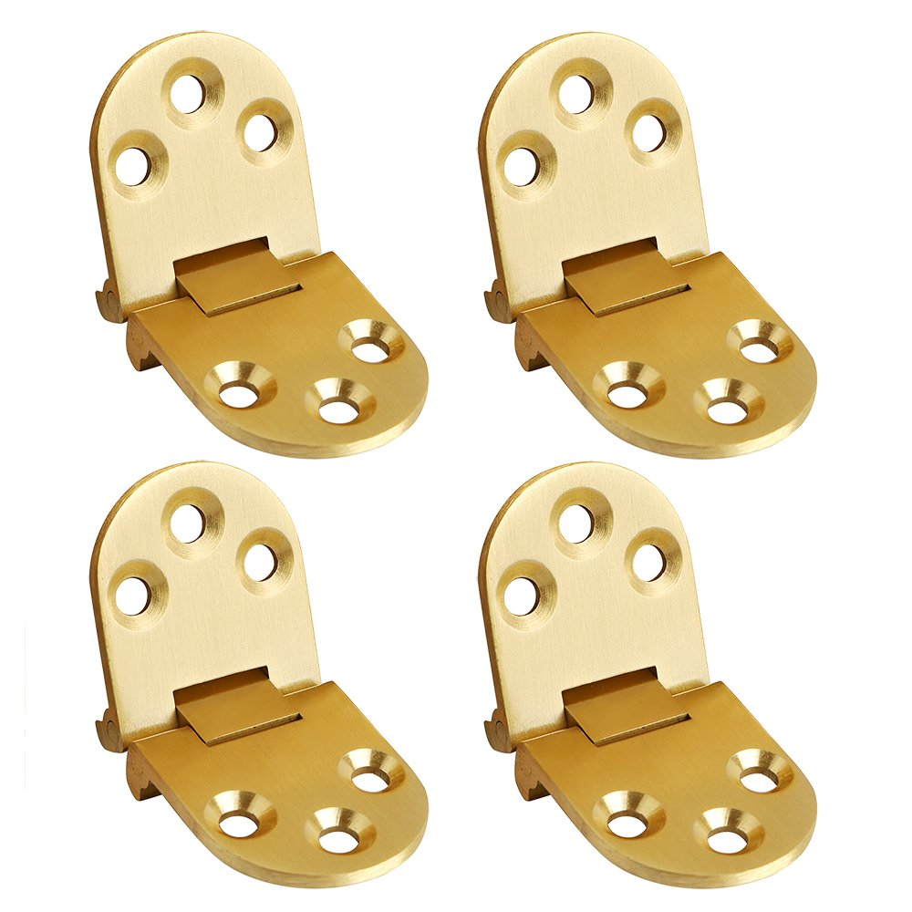 Sayayo Folding Flip Top Hinge, Stainless Steel Chrome Finished, 4 Pcs, EHY4004-4P