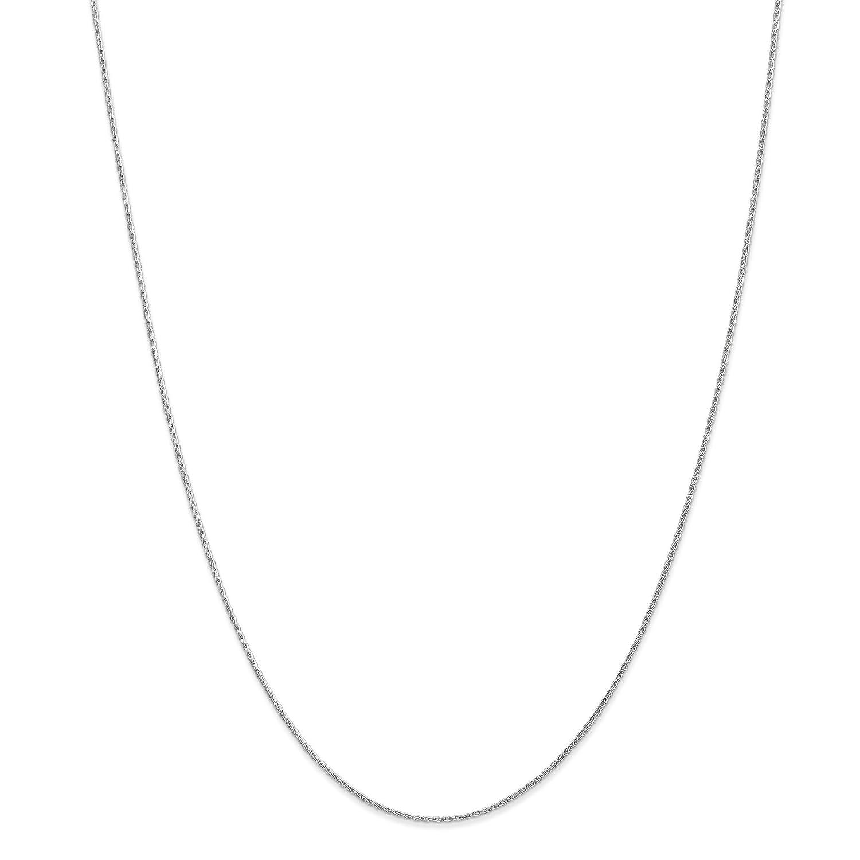 14k White Gold 1.00mm Parisian Wheat Chain Necklace