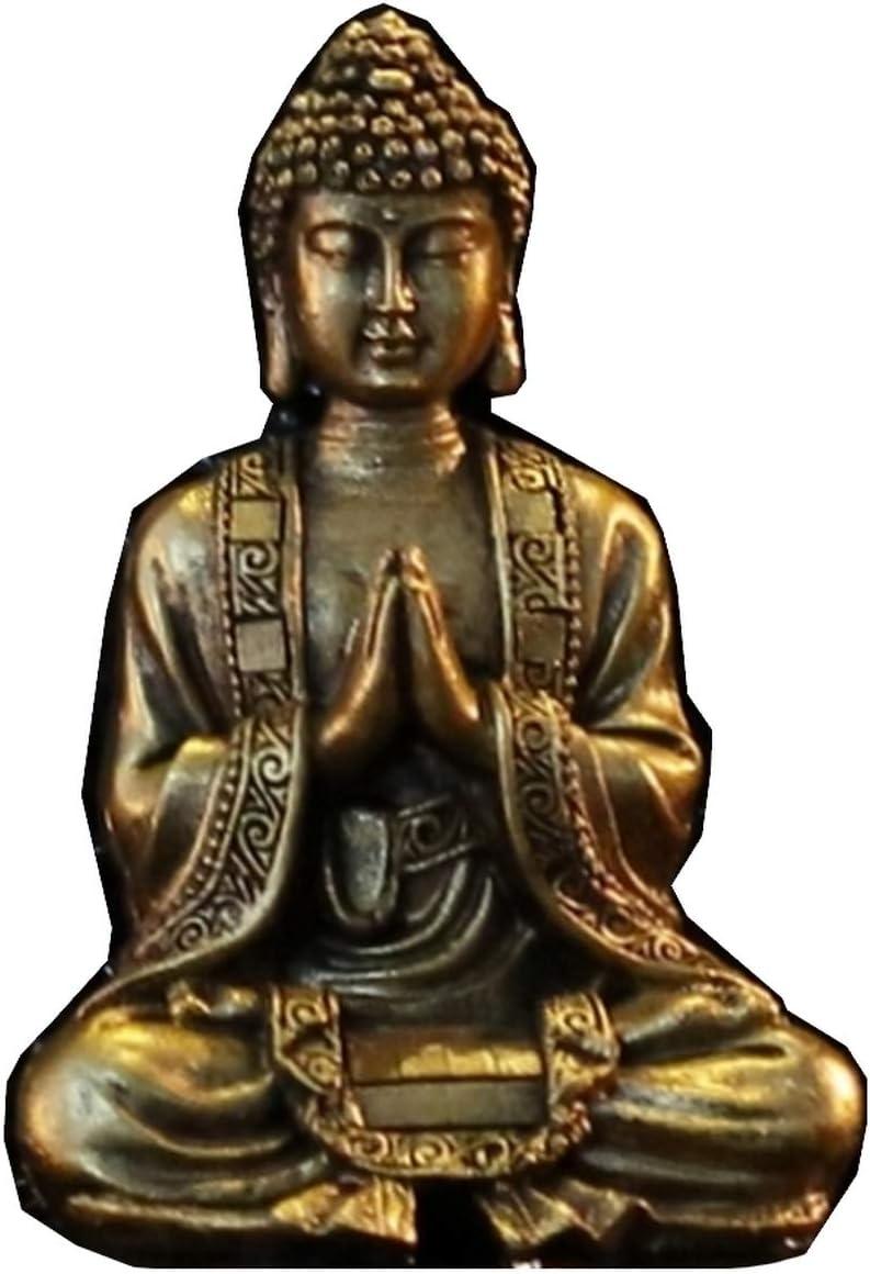 Zen Light Buda meditación Dorada Figura Decorativa, Resina, Talla única