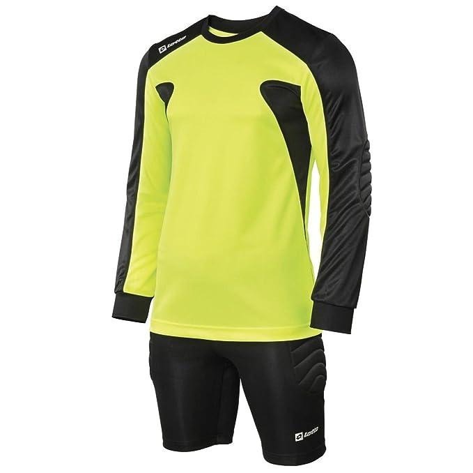 Lotto Nuevo Kit de Fútbol Junior Camiseta de Manga Larga de Portero Guardia Tamaños MB-