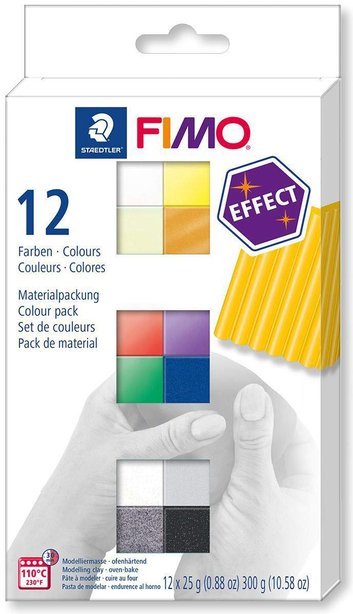 FIMO Efecto Conjunto de 12 Colores 25g de Artesanías, FIMO, Horno ...
