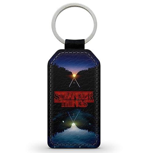 Keychain Key Ring llavero Accessory Faux-Leather Stranger ...