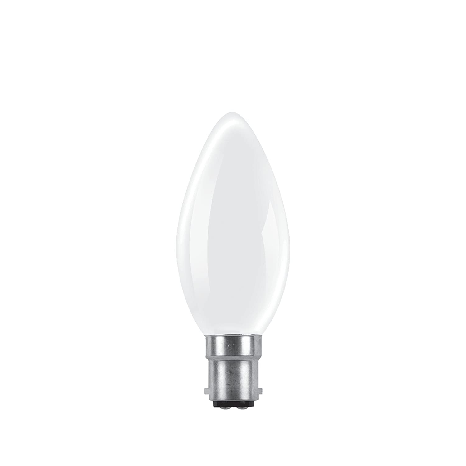 Bulk Hardware BH02448 Rough Service Candle Bulb, Frosted 60 W Small Bayonet Cap - Pack of 10