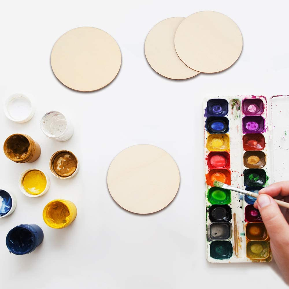 DIY Supplies Home Decorations Writing Engraving and Carving Blisstime 36 Pieces 3 Inch Unfinished Wood Circles Round Wooden Slices Wood Drink Coasters Blank Wood Crafts for Painting
