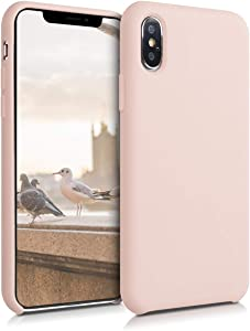 kwmobile TPU Silicone Case Compatible with Apple iPhone Xs - Soft Flexible Rubber Protective Cover - Dusty Pink