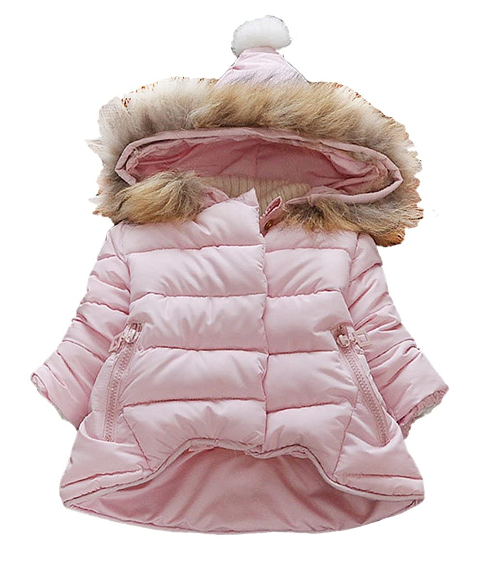 Kidscool Baby & Little Girls Soft Hooded Down Coat Keep Warm Outerwear